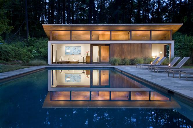 Nancy creek guest house philip babb architect for Modern house atlanta