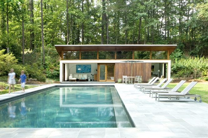 house plans with pool house guest house nancy creek guest house philip babb architect 27735